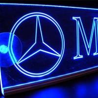 Светящаяся табличка Mercedes 2D