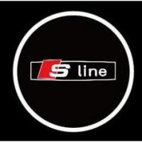 Подсветка дверей с логотипом Audi Sline 7W mini