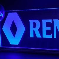 Светящаяся табличка Renault 3D