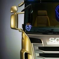 Светящийся логотип для грузовика SCANIA*2шт.