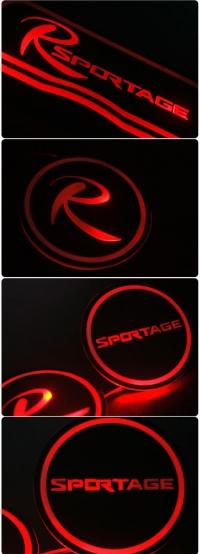 Подсветка центральной консоли KIA Sportage,коврики в ниши автомобиля KIA Sportage,коврики в подстаканники KIA Sportage,коврики в двери KIA Sportage,автомобильные резиновые коврики KIA Sportage,подсветка салона KIA Sportage,подсветка подстаканников KIA Spo