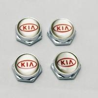 Декоративный болт для номерного знака с логотипом KIA